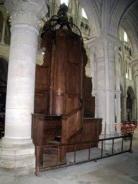 The back of the pulpit in the cathedral of Laon.