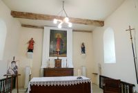 Altar area of the chapel in Brouillet where De La Salle worshiped as a child.