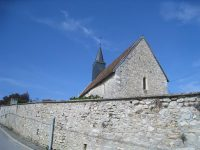 View from the street of the chapel in Brouillet where De La Salle worshiped as a child.
