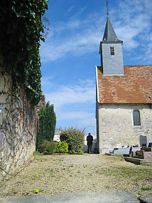 Path leading to the entrance of the chapel in Brouillet where De La Salle worshiped as a child.