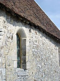 Side wall of the chapel in Brouillet where De La Salle worshiped as a child.