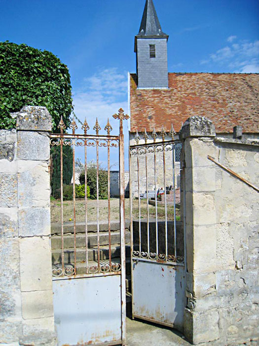 Entry gate to the chapel in Brouillet where De La Salle worshiped as a child.
