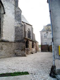 Outside view of the church of Our Lady of Liesse (in Liesse, France).