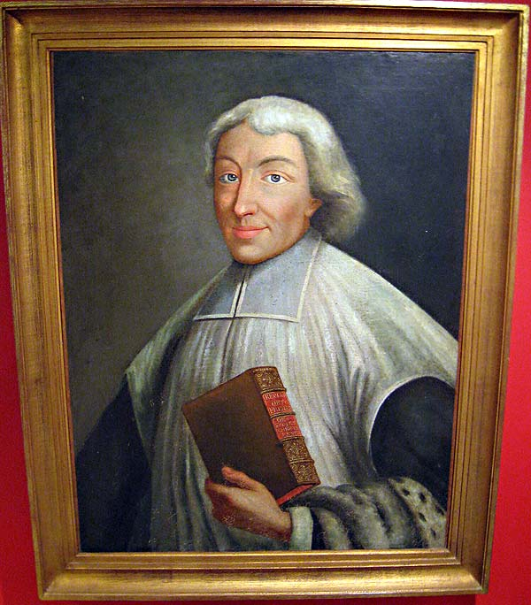 Early painting of John Baptist de La Salle, hanging in the museum at the Hotel de la Cloche in Reims, France.
