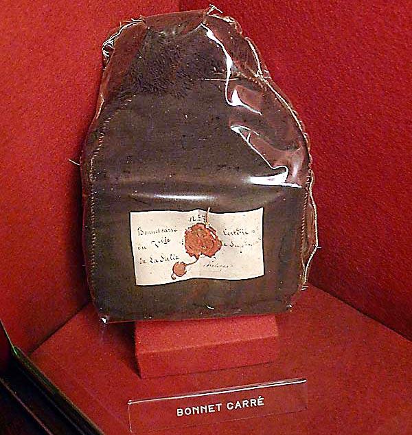 De La Salle's cap, from the museum at the Hotel de la Cloche in Reims, France.