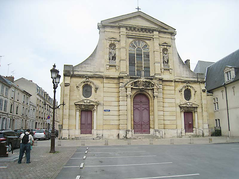 Facade of the church of Saint Maurice in Reims, where De La Salle began the first Lasallian school.