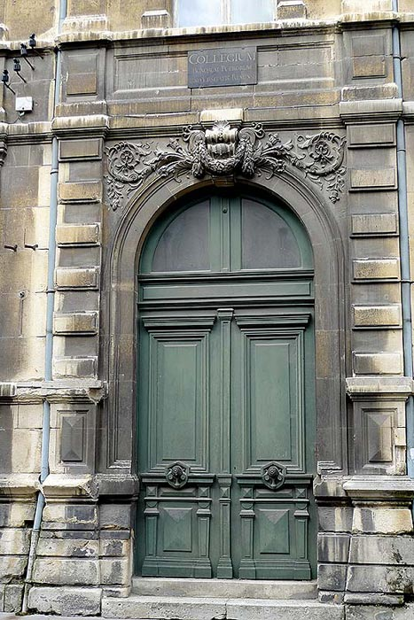 Detail of the main doorway of the College des Bons Enfants.
