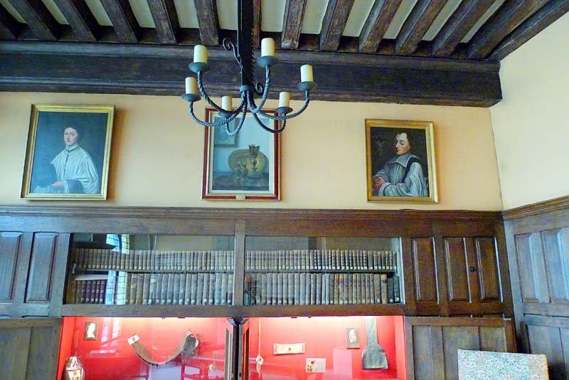 The north wall in the front room at the Hotel de la Cloche in Reims, France.