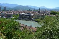 Grenoble, the base of operations for many of De La Salle's educational activities here.