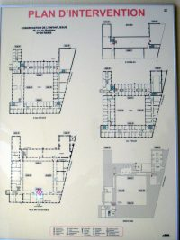Floor plan of the current building that is the motherhouse in Reims of the Sisters of the Child Jesus.