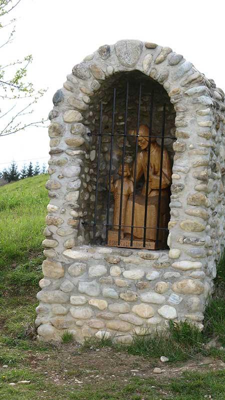A small shrine to St. Joseph on the Parmenie retreat center.