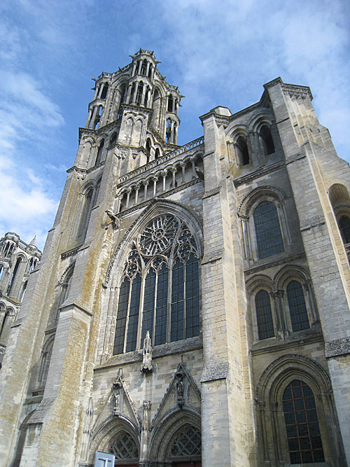 Details on one of the towers of the cathedral of Laon.