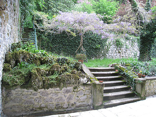 The back yard of the house where the Brothers first lived in Grenoble.