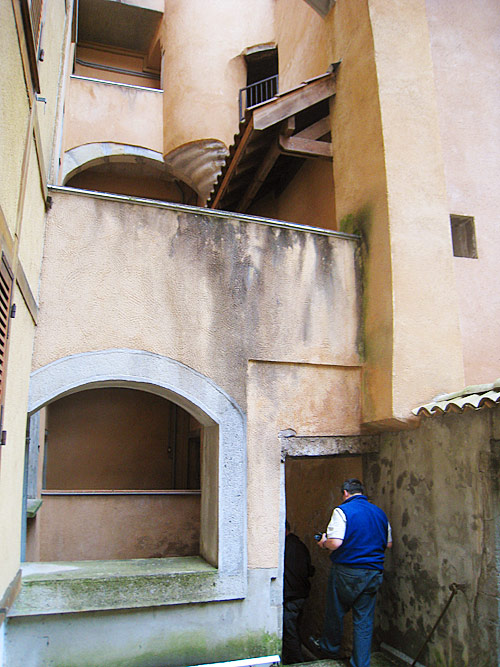 The inner courtyard of the house where the Brothers first lived in Grenoble.