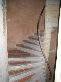 The outer staircase of the house where the Brothers first lived in Grenoble. De La Salle likely walked these stairs.