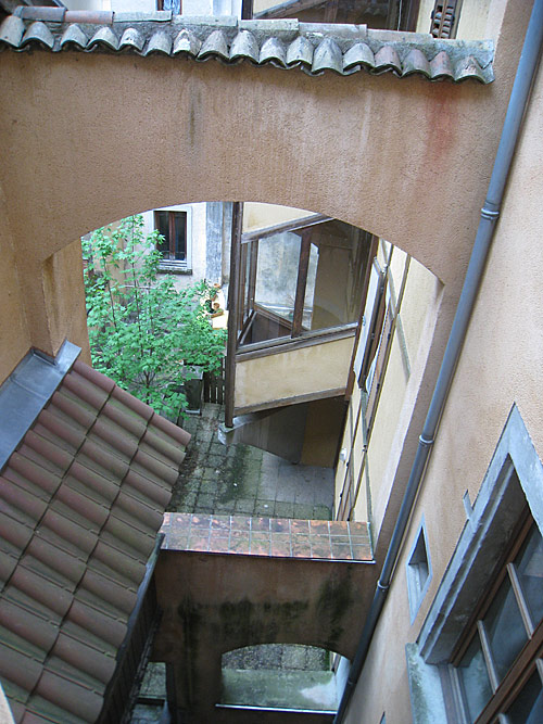 The first from the top of the stairs of the house where the Brothers first lived in Grenoble.