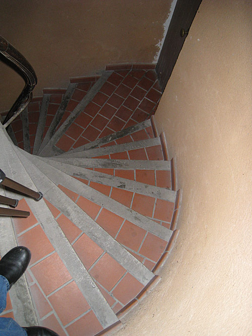 The staircase in the house where the Brothers first lived in Grenoble.