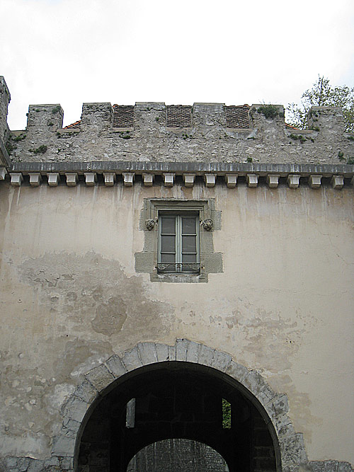A building near the Church of St. Laurent in Grenoble.