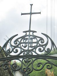 Iron gate at the entrance of the church.