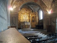 The chapel inside the Convent of the Sisters of the Visitation, still the way it was in the 17th century.