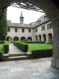 The inner courtyard of the Convent of the Sisters of the Visitation.