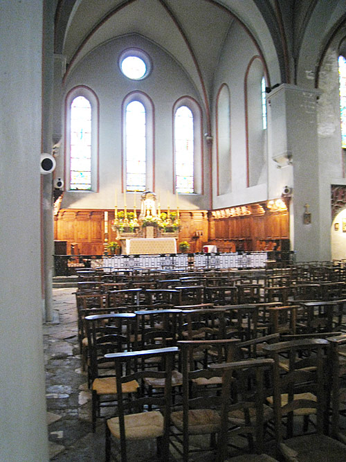 The inside of the Church of Saint Andre in Grenoble.