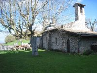 The back of the chapel at the Parmenie retreat center.