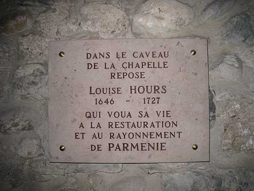 The interment site for Sister Louise at the Parmenie retreat center.