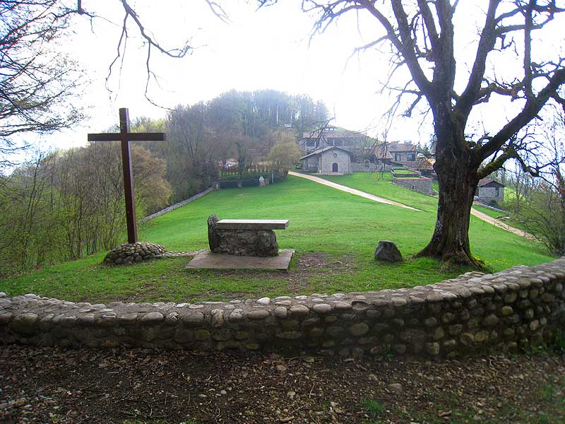 View from the open-air altar at the Parmenie retreat center.