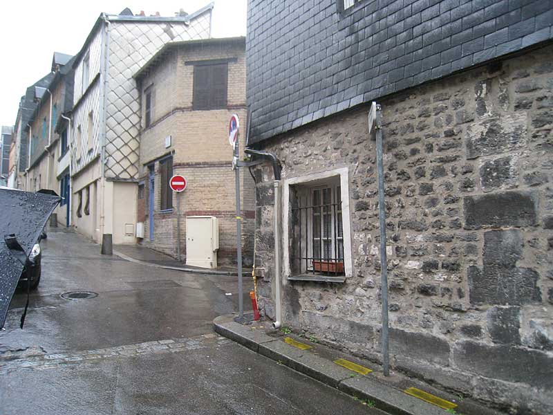 Corner of the original house in Rouen where the first Brothers moved after living and working in the General Hospice.