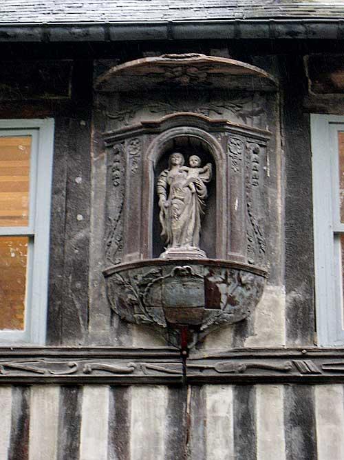 Inside the courtyard of St. Maclou in Rouen.