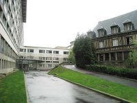 The Hospice General in Rouen, where Adrian Nyel and the Brothers worked, is next to a contemporary hospital building.