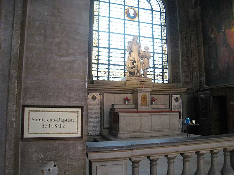 De La Salle's side chapel at the church of Saint Sulpice.