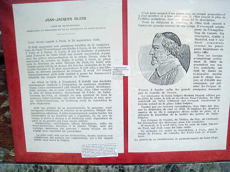 Historical information about Jean-Jacques Olier, one of De La Salle's inspirations.