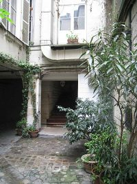 Inner courtyard of the building where the Lasallian school was located.