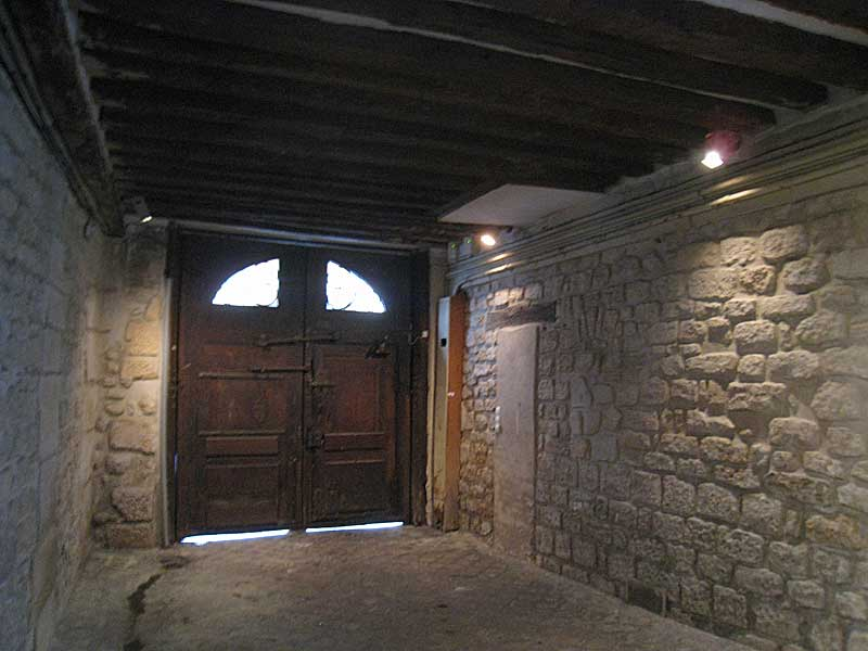 Entry way (from inside) into the building where the Lasallian school was located.