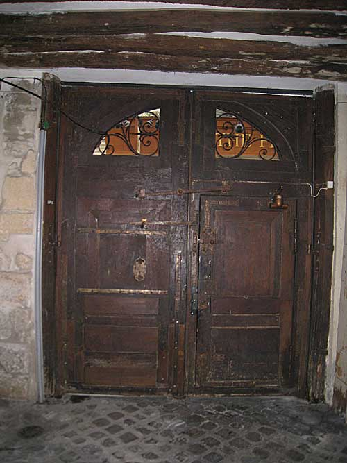 Entry doorway (from inside) into the building where the Lasallian school was located.