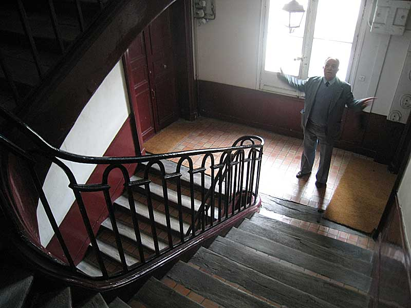 Staircase within the building where the Lasallian school was located.