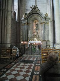 The altar in the Reims Cathedral where De La Salle said his first Mass