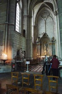 The small side chapel in the Reims Cathedral, dedicated to Our Lady, where De La Salle said his first Mass.