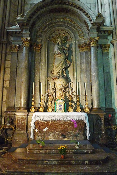 The altar where De La Salle said his first Mass. It looks very much the same as it did in De La Salle's time.