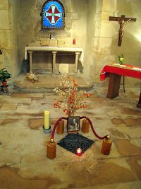 The crypt of Nicholas Roland at the motherhouse in Reims of the Sisters of the Child Jesus.