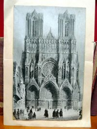 Early print of the Reims Cathedral. Note the Brothers walking in a group in the front.
