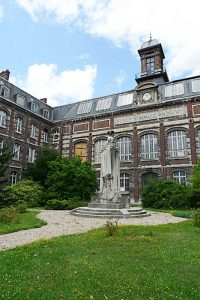 Front of the 19th century building of St. Yon in Rouen.