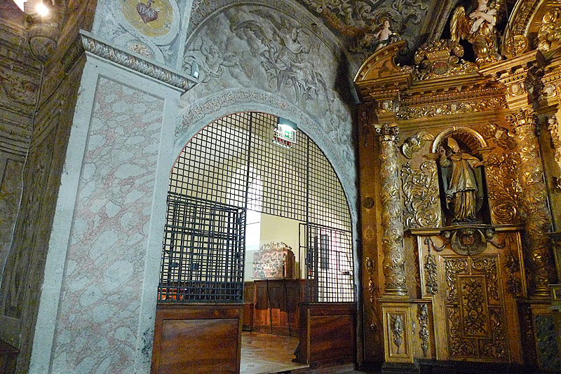 Entrance into the chapel of the Convent of the Sisters of the Visitation.