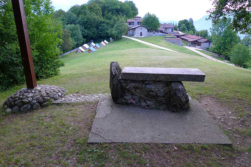 The open-air altar overlooking the Parmenie retreat center.