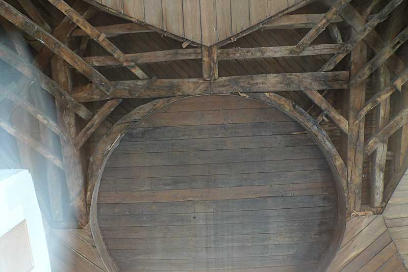 Ceiling of the original chapel at St. Yon in Rouen.