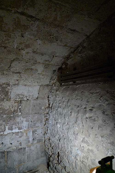 Detail from one of the cells in the basement area of St. Yon in Rouen.