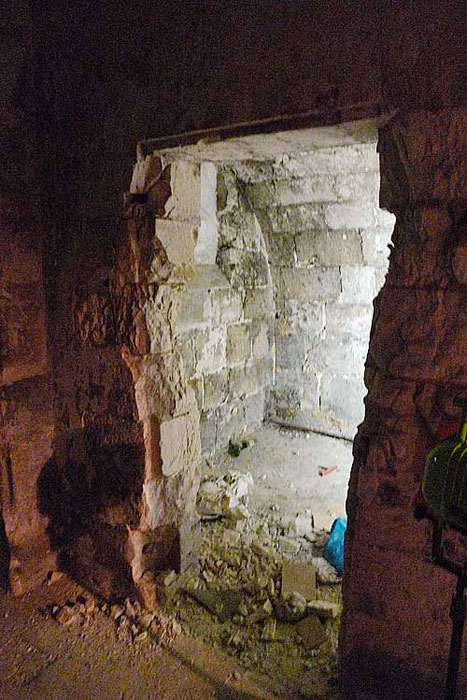 One of the cells in the basement area of St. Yon in Rouen.