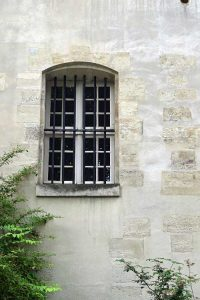 Window facing the courtyard at the Carmelite Abbey in Paris.